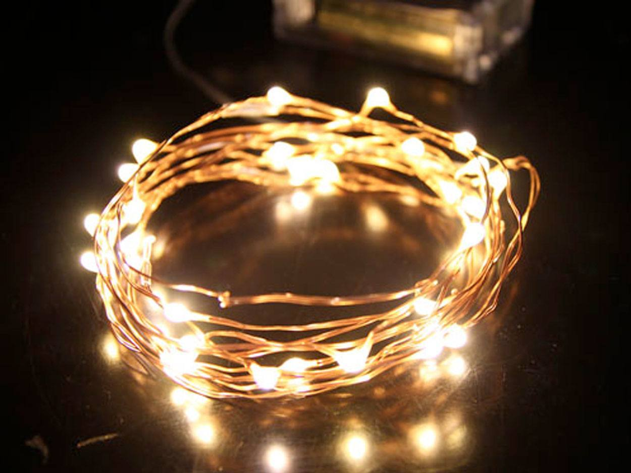 Seed Fairy Lights Copper 3m Battery Led