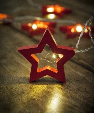 Red Star Fairy Lights