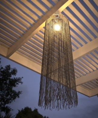 black beaded lamp shade