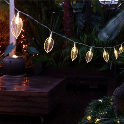SOLAR fairy light leaves ... & Outdoor Fairy Lights | Outdoor String u0026 Party Lights | NZ