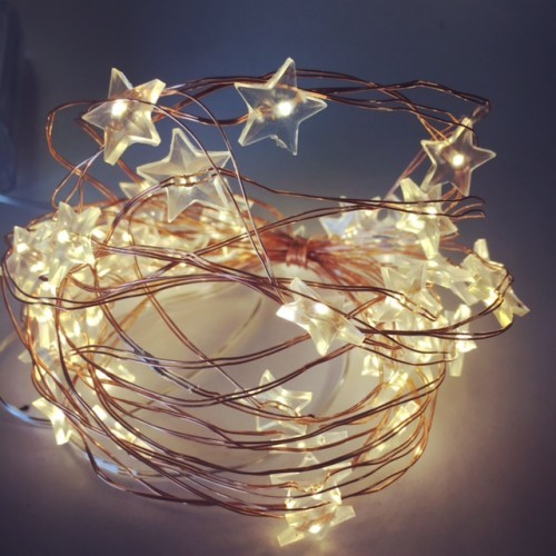 Warm white star LED lights