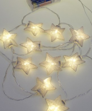 Silver star battery lights