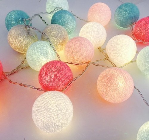 Woven ball fairy lights